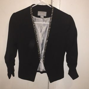 H&M blazer with silver accents